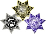 star sheriff badge labels and stickers
