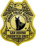 junior office mounted unit police stickers