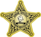 star shape mounted police labels aand stickers