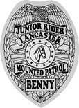 junior rider mounted police badge stickers