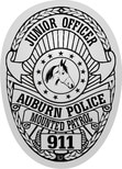 junior officer mounted police badge stickers for kids
