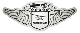 junior flight attendant wing stickers