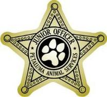 junior officer animal services badge stickers