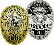 paper junior officer badges labels and stickers