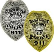 junior police officer badge stickers