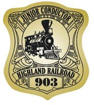 Junior Conductor Badge Stickers