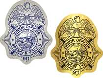 Police Officer Badge Stickers