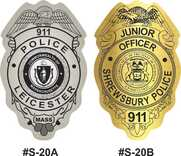 Junior Officer Badge Stickers