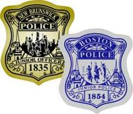 boston police badge stickers