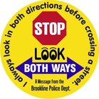 look both ways stickers