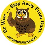 stay away from guns stickers